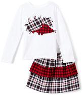 White & Red Porcupine Tee & Skirt - Infant, Toddler & Girls