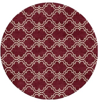 Pottery Barn Custom Scroll Tile Hand Tufted Wool Rug - Topaz