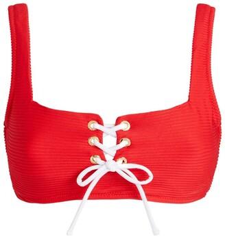 Heidi Klein Lace-Up Sardinia Bikini Top