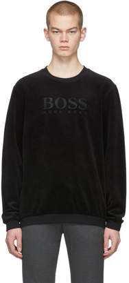 BOSS Black Velour Logo Sweatshirt