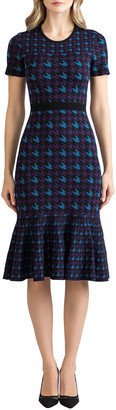 Shoshanna Percy Houndstooth Knit Dress
