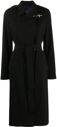 Fay Belted Wrap-Front Coat
