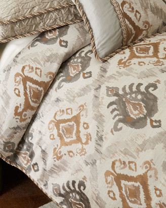 Dian Austin Couture Home Carte Le Blanche Ikat Queen Duvet