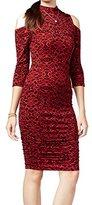 Jessica Simpson Women's Montanna Funnel Neck Dress