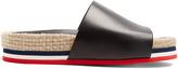 Moncler Evelyne leather espadrille slides
