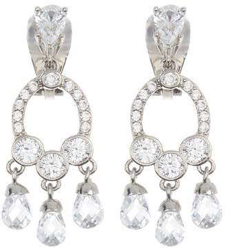 Carolee CZ Mini Chandelier Clip Earrings