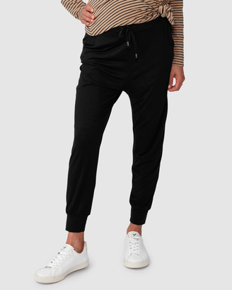 Pea in a Pod Maternity - Women's Black Sweatpants - Jaya Slouch Pants - Size One Size, XS at The Iconic