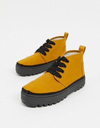Toms Botas Lug high-top flatform sneakers in beige