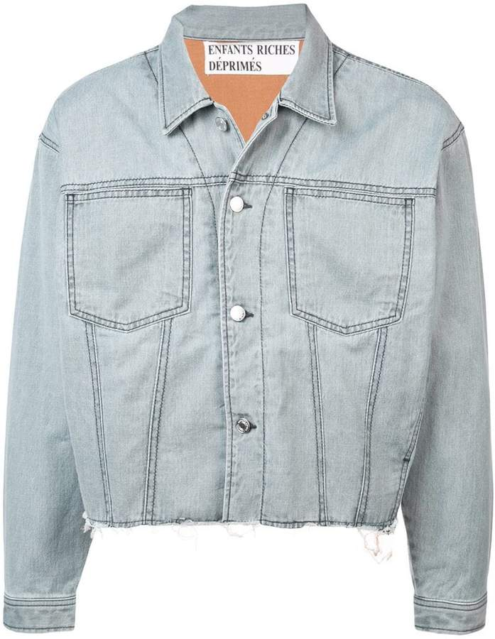 Enfants Riches Deprimes Vad Hande Med Dem distressed denim jacket