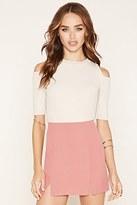 Forever 21 FOREVER 21+ Vented Mini Skirt