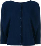 Issey Miyake ribbed jacket - women - Polyester - One Size