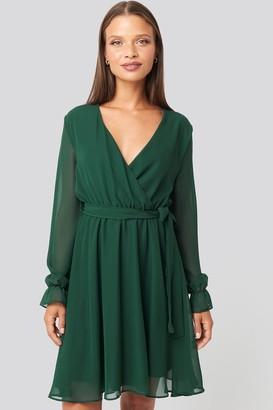 Trendyol Mesh Contrast Mini Dress