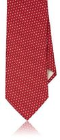 Barneys New York MEN'S DOT-PATTERN NECKTIE-RED