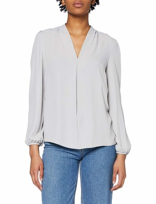 Dorothy Perkins Women's Silver V Neck Vienna Top Blouse 8