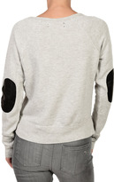 Elizabeth and James TEXTILE Patch Sweatshirt Heather Grey