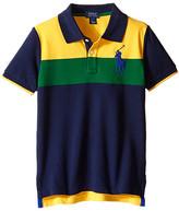 Polo Ralph Lauren Mesh Novel Polo Shirt (Little Kids/Big Kids)