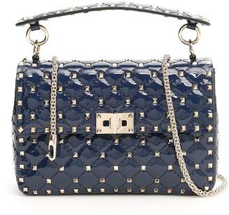 Valentino Patent Medium Rockstud Spike Bag