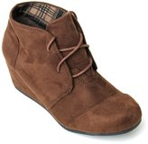 Forever Link Womens Round Toe Lace Up Wedge Heels Suede Ankle Boots Booties (8, )