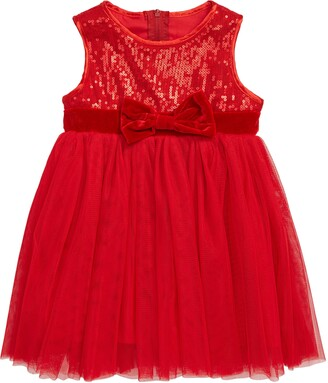 Popatu Sequin Sleeveless Tulle Dress
