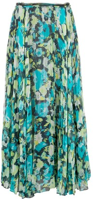 Jason Wu Collection Patterned Pleated Skirt