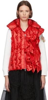 MONCLER GENIUS 4 Moncler Simone Rocha Red Down Marianne Vest