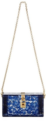 Dolce & Gabbana Dolce Lace Plexiglass Box Clutch