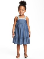 Old Navy Lace-Trim Tea-Length Dress for Toddler
