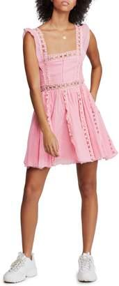 Free People Verona Smocked Cotton Mini Dress
