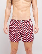 Happy Socks Woven Boxers With Check Print