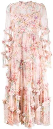 Needle & Thread Ruffled Floral Dress