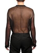 Givenchy Naked Man Printed Silk Organza Shirt