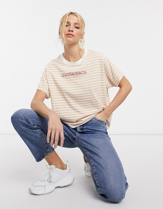Levi's graphic varsity striped T-shirt in yellow