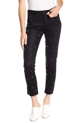 Siwy Denim Gaby Raw Edge Faux Pearl Embellished Jeans