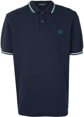 Fred Perry Stripe-Trim Logo Polo Shirt