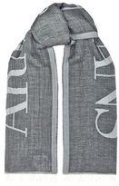 Armani Jeans Contrast Logo Scarf