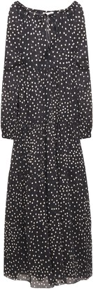 Stella McCartney Gathered Polka-dot Cotton-mousseline Maxi Dress