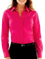 JCPenney Worthington® Long-Sleeve Button-Front Shirt