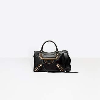 "Balenciaga Cross body goatskin bag, mini version of the iconic bag the ""City"""