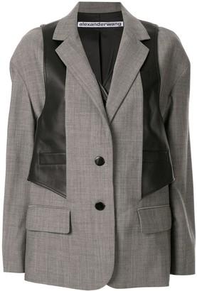 Alexander Wang waistcoat layered blazer