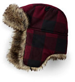 Lands' End Youth Quilted Trapper Hat-Midnight Ink