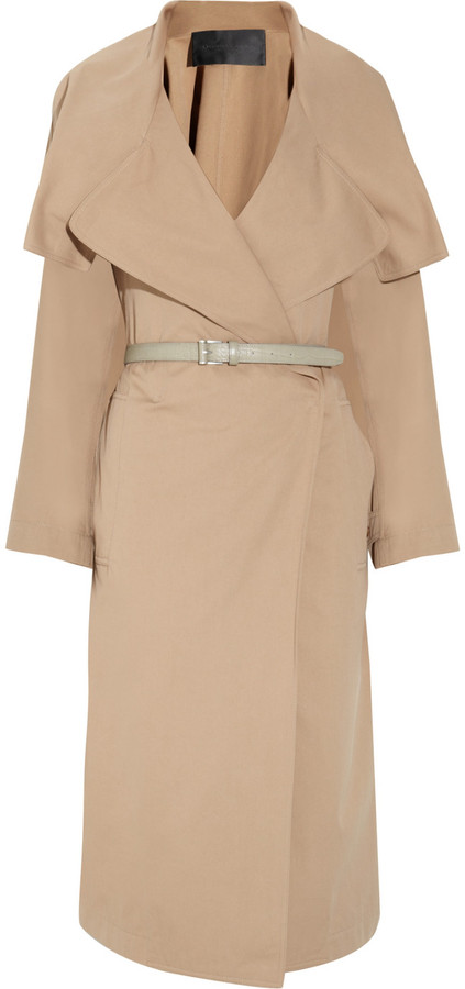 Donna Karan Belted cotton and silk-blend trench coat