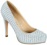 De Blossom Collection Women's Summer-41 Sparkle Round Toe Dressy High Heel Pump 10
