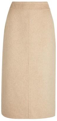 Vince Front Seam Midi Skirt