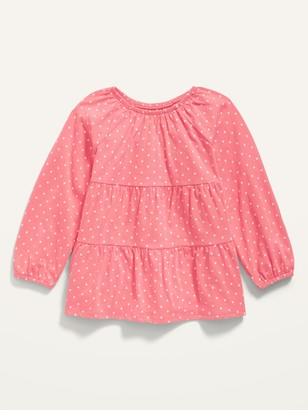Old Navy Long-Sleeve Tiered Scoop-Neck Tunic for Toddler Girls