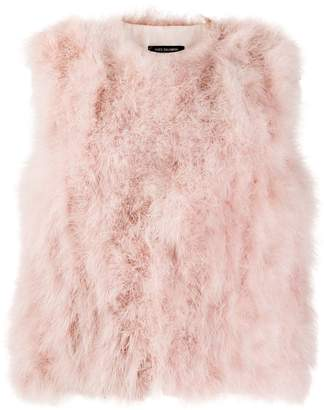 Yves Salomon Accessories feathered gilet