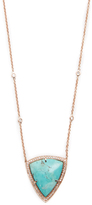 Jacquie Aiche Pave Turquoise Bezel Diamond Necklace