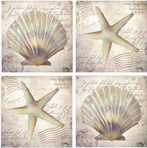 Thirstystone Beach Shells Set of 4 Coasters