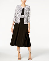 Jessica Howard Midi Dress & Lace-Print Jacket