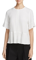 DKNY Short Sleeve Silk Blouse