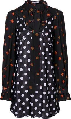 J.W.Anderson Polka Dot And Floral Print Dress